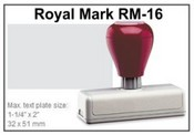 Pre-Inked RM-16 RM-16 Royal Mark Pre-Inked Stamp