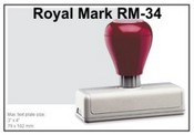 Pre-inked RM-34 RM-32 Royal Mark Pre-Inked Stamp