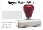 Pre-Inked RM-4 RM-4 Royal Mark Pre-Inked Stamp
