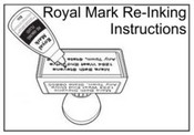 how to Re-Ink Royal Mark Pre-Inked Stamp