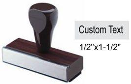 "1/2"" x 1-1/2"" Custom Rubber Stamp Custom Rubber Stamp Rubber Hand Stamp"
