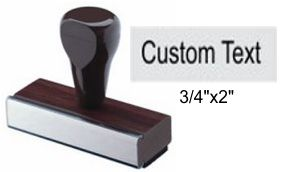 "3/4"" x 2"" Custom Rubber Stamp