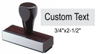 "3/4"" x 2-1/2"" Custom Rubber Stamp