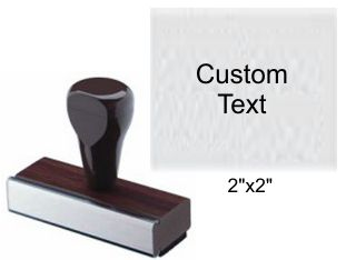 "2"" x 2"" Custom Rubber Stamp