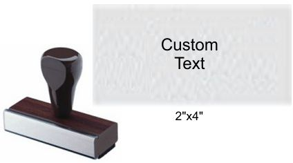 """2"""" x 4"""" Custom Rubber Stamp Custom Rubber Stamp Rubber Hand Stamp Rubber Stamp"""