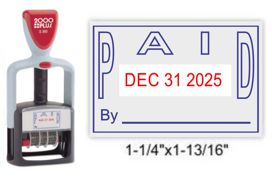 S-360 PAID - 2 Color Red/Blue Stock Dater