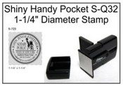 Shiny S-Q32 Handy Pocket Stamp