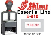 E-910 Shiny Self Inking Stamp Shiny Heavy Duty E-910 Shiny E-910 Essential Self-Inking Dater