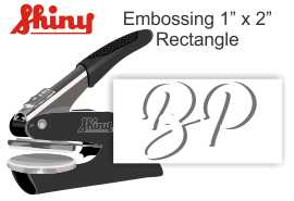 "1""x2"" Rectangle Embossing Seal