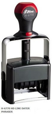 H-6770 Stock Word Phrase Self-Inking Dater