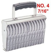 Shiny Size 4-14 Numbering Band Stamp