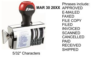 S-70 Shiny Phrase Date Stamp