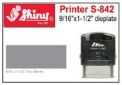 S-842 Shiny Self Inking Stamp
