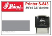 S-843 Shiny Self Inking Stamp