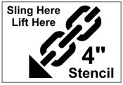 Sling Here - Lift Here Shipping Stencil