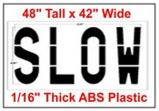 SLOW Federal Spec Stencil