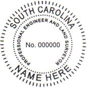 South Carolina Surveyor Stamp