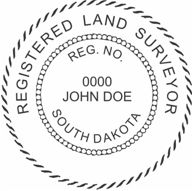 South Dakota State Surveyor Stamp