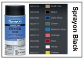 12 oz Krylon Black Stencil Spray Ink Can