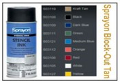 Sprayon Tan Stencil Ink - 12 oz Aerosol Can