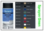 Sprayon Green Stencil Ink - 12 oz Aerosol Can