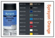 Sprayon Orange Stencil Ink - 12 oz Aerosol Can