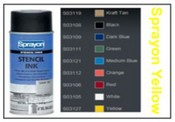 Sprayon Yellow Stencil Ink - 12 oz Aerosol Can