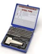 "11129, 1/16"" Steel Type Marking Kits (Sharp Face Stamps)"