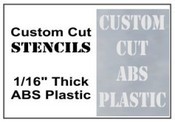 "ABS 1/16"" Thick Plastic Stencil Set, 48 in. 28 Characters."