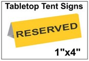 "1"" x 4"" Engraved Table Top Tent Sign