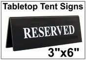 engraved tent signs