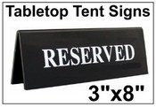 """3"""" x 8"""" Table Top Tent Sign No Soliciting Table Top Tent Sign 2"""" x 8"""" Engraved Table Top Tent Sign 2"""" x 6"""" Engraved Table Top Tent Sign Tent Signs Table Top Tent Sign"""