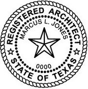 Texas Architect Embossing Seal