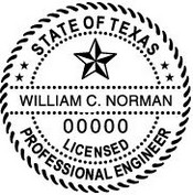 Texas Engineer Embossing Seal