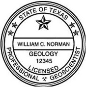 Texas Geo-science Engineer Embossing Seal