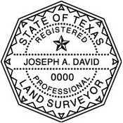Texas Surveyor Stamp