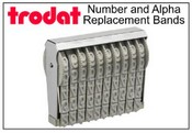 Trodat Replacement Number and Letter Bands