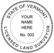 Vermont State Surveyor Stamp