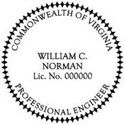 Virginia Engineer Embossing Seal