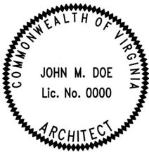 Virginia Architectural Stamp