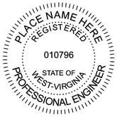 WEST VIRGINIA Engineering Stamp Engineering Stamp Architectural Stamp Mechanical Engineer Stamp Land Surveyor Stamp