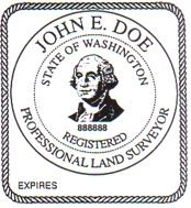 Washington Surveyor Embossing Seal