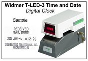 T-LED-3, Widmer Electric Time Stamp Widmer Electric Time Stamp W/Digital Display
