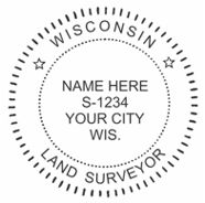 Wisconsin State Surveyor Stamp