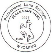 Wyoming State Surveyor Stamp