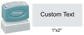 """XStamper N12 Xstamper N12 Pre-Inked 1"""" x 2"""""""