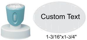 """XStamper N57 Xstamper N57, Pre-Inked Round Stamp 1-3/16"""" x 1-3/4"""" Oval"""