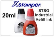 Xstamper STSG Industrial Refill Ink - 20ml  (BLACK) Bottle