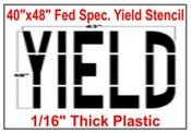 YIELD Federal Spec Stencil