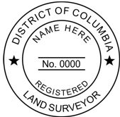 District of Columbia Self-Inking State Surveyor Stamp